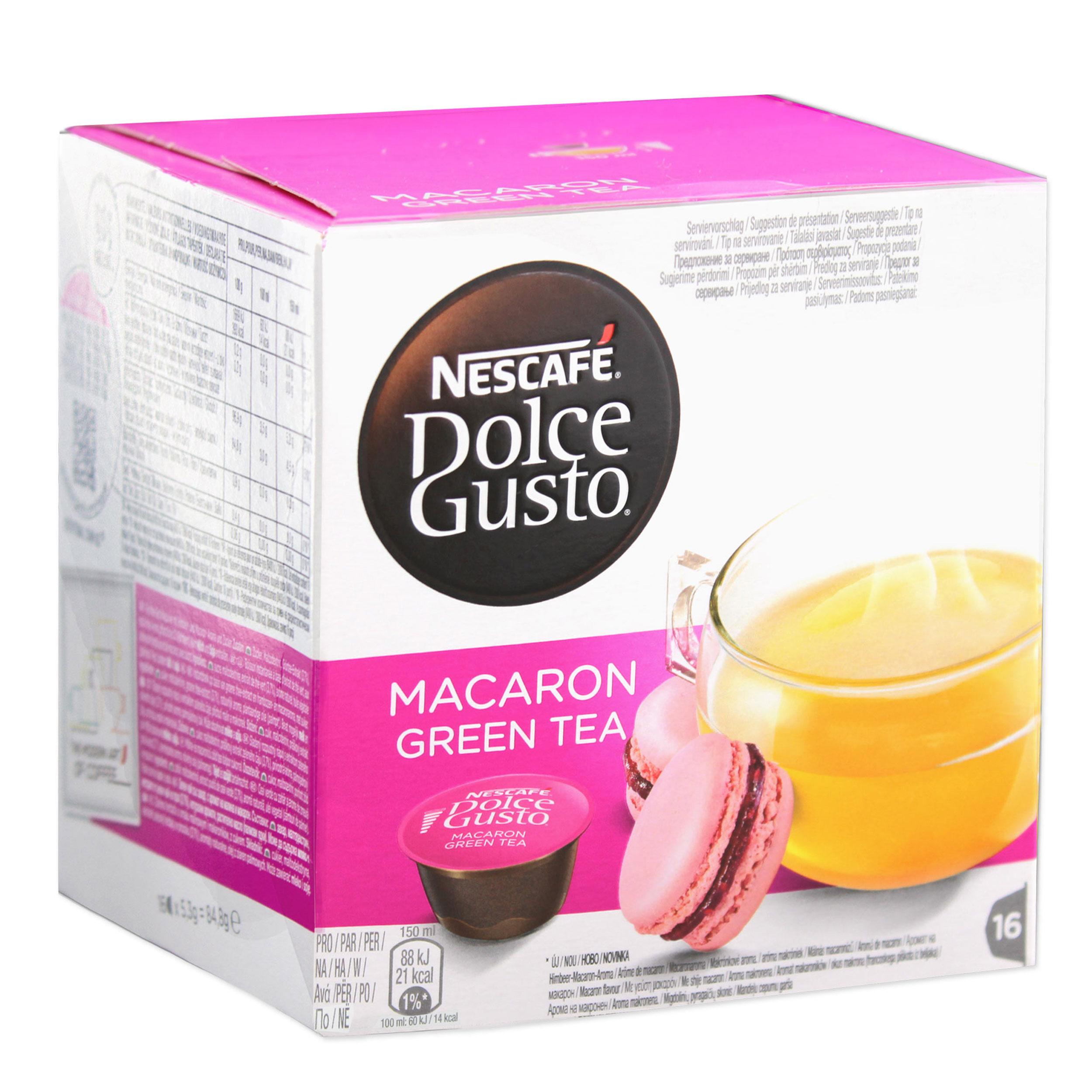 nescaf dolce gusto macaron green tea beverage drink. Black Bedroom Furniture Sets. Home Design Ideas