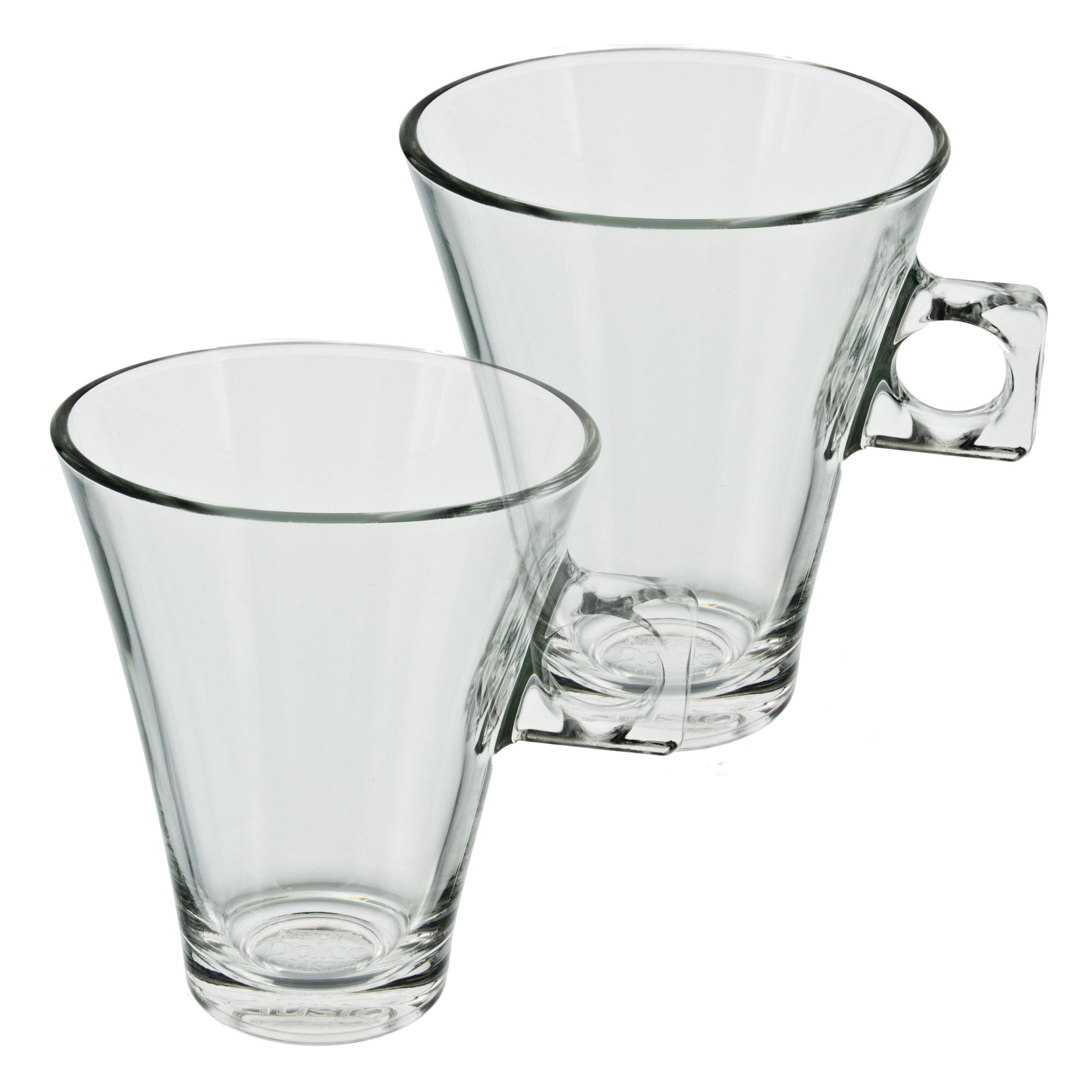 Nescafé DOLCE GUSTO Latte Macchiato Design Glas Becher 200 ml Tasse 2er Set