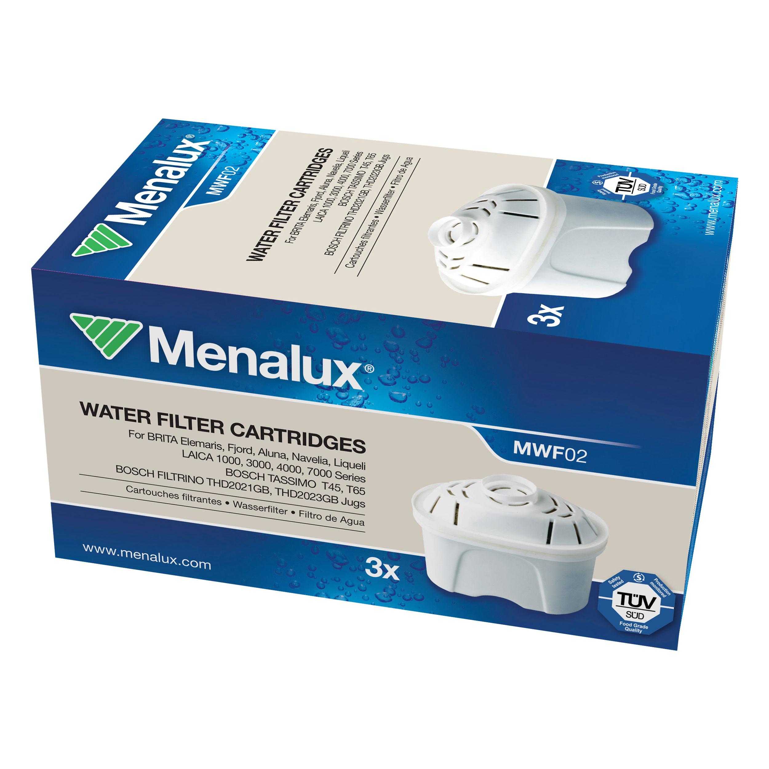 Menalux Filterkartusche für Brita Maxtra Tassimo Bosch Filtrino 3 Kartuschen NEU