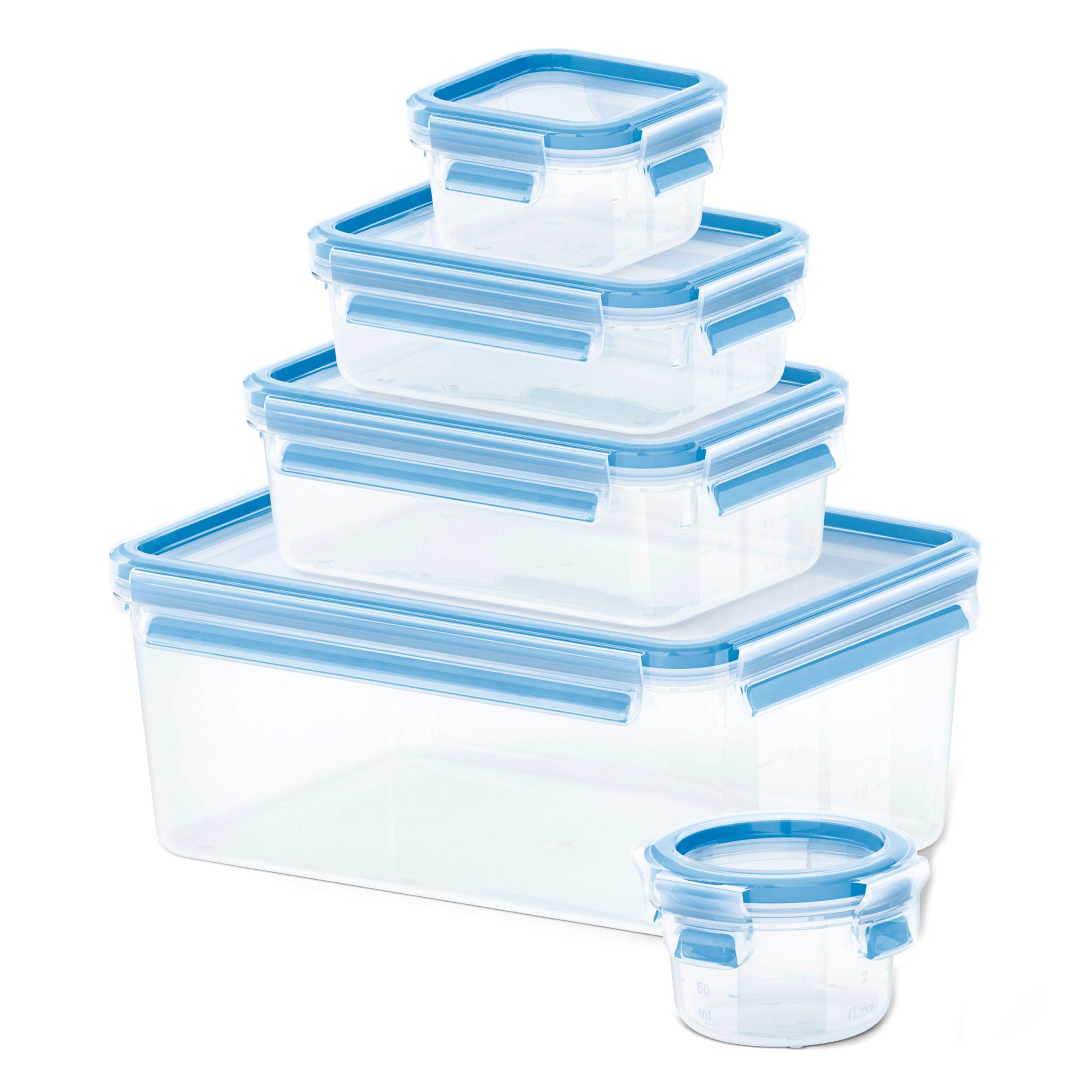 Emsa Clip & Close 5er Set Frischhaltedosen Frischhaltebox 508568 Brotdose