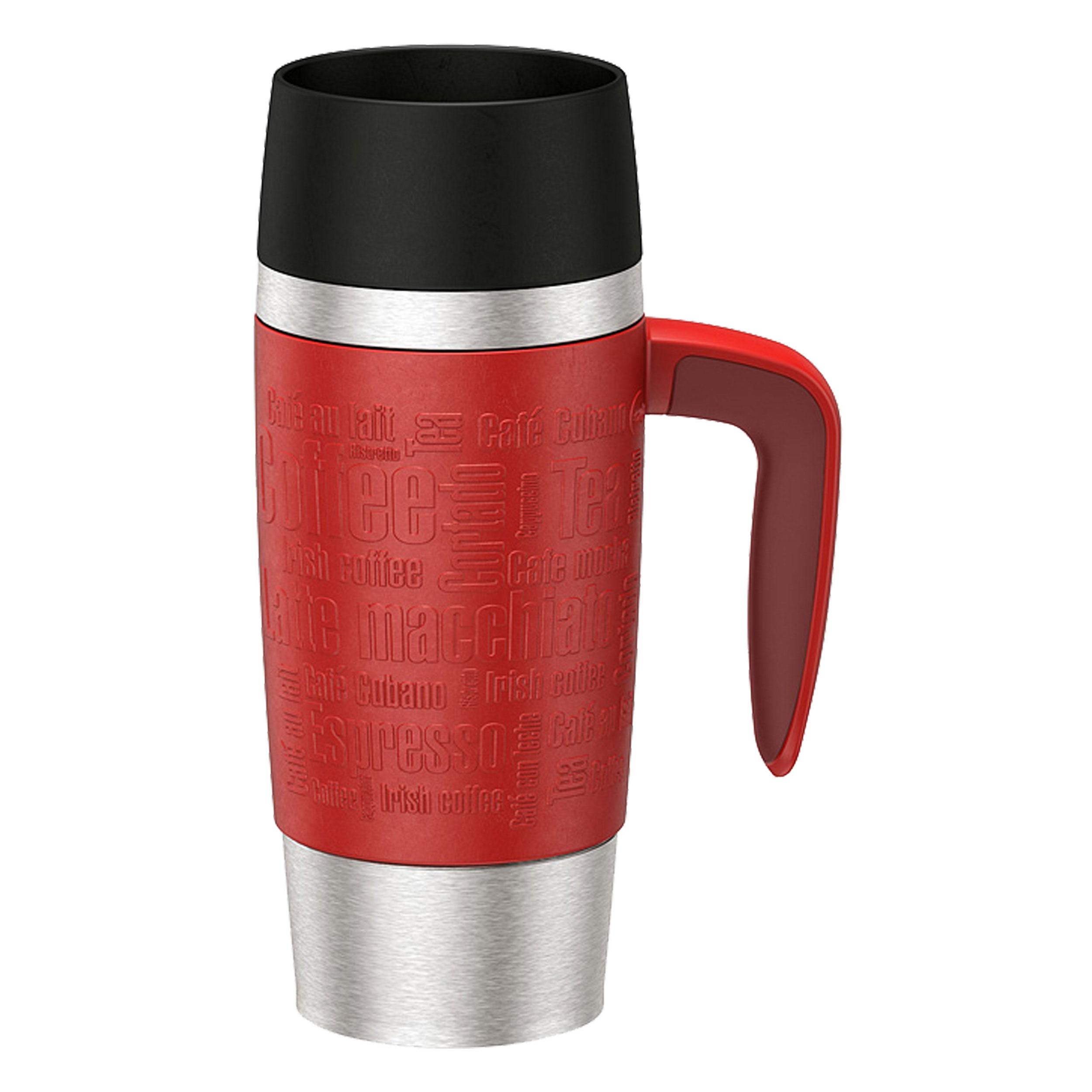 Emsa Travel Mug Vacuum Jug 0 36 L Handle Red Coffee Tea Jug Vacuum Flask 514098 At About Tea De Shop