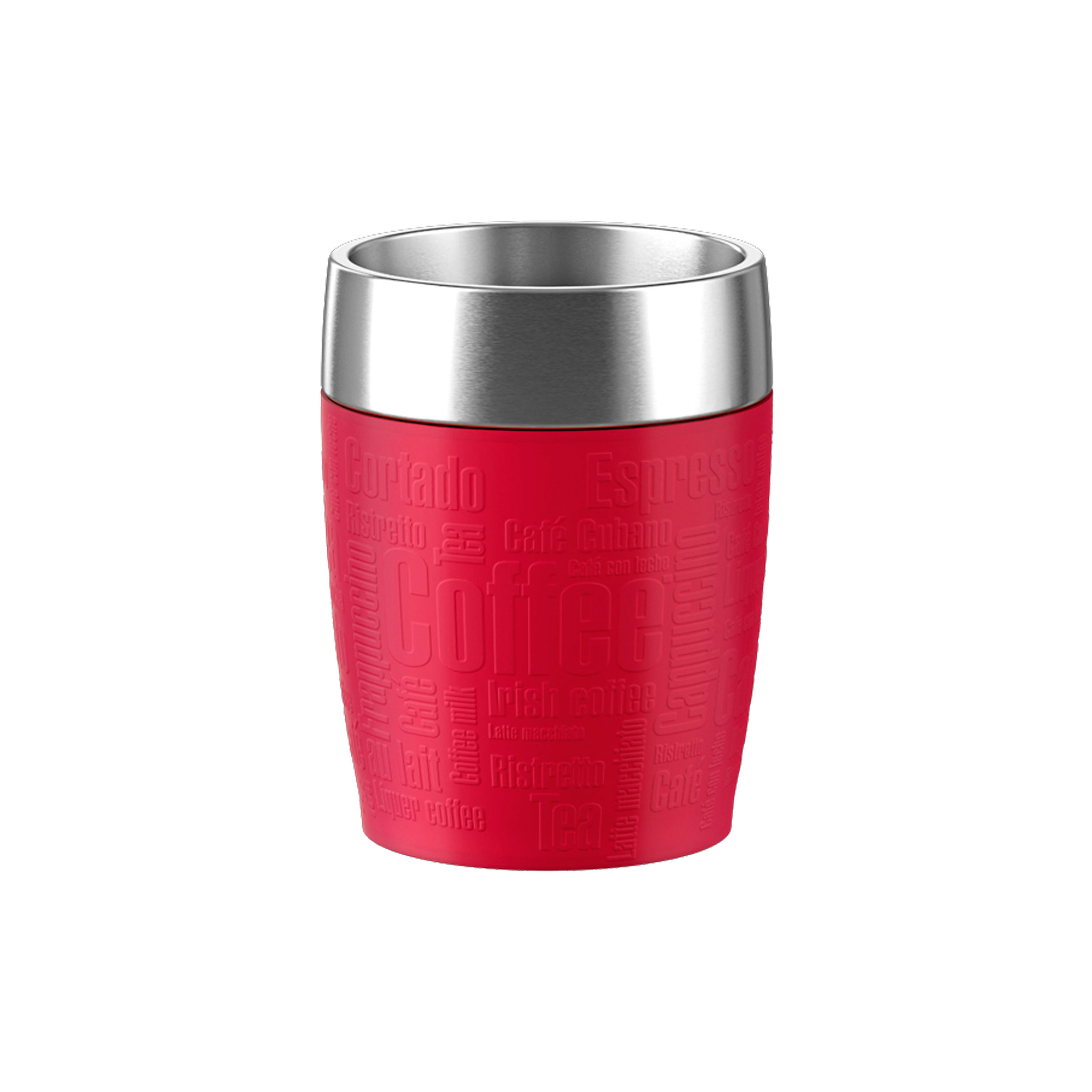 Emsa Travel Cup Vacuum Flask Travel Mug Insulated Mug Stainless Steel Plastic Silicone Rubber Red 200 Ml 515681 At About Tea De Shop
