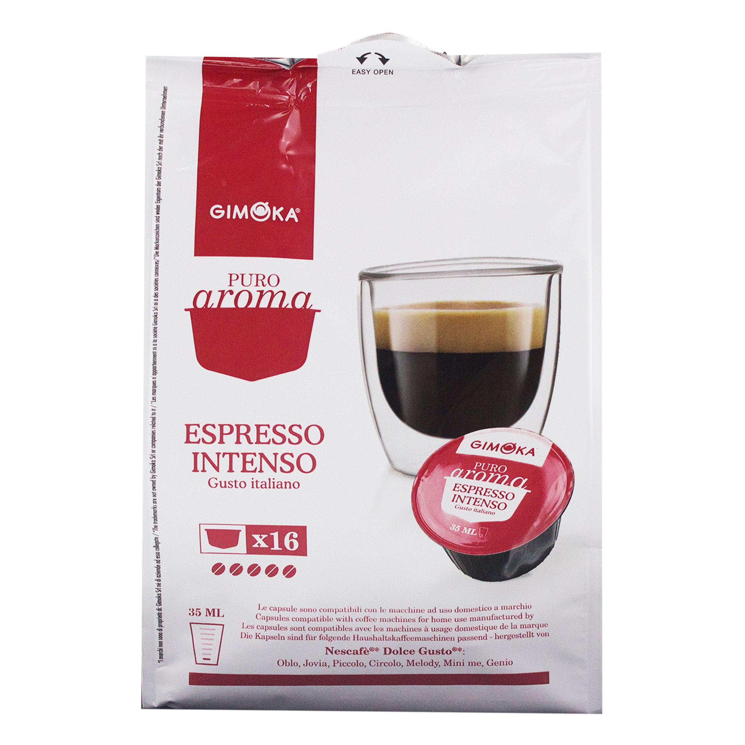 gimoka puro aroma espresso intenso gusto italiano coffee coffee capsule nescaf dolce gusto. Black Bedroom Furniture Sets. Home Design Ideas