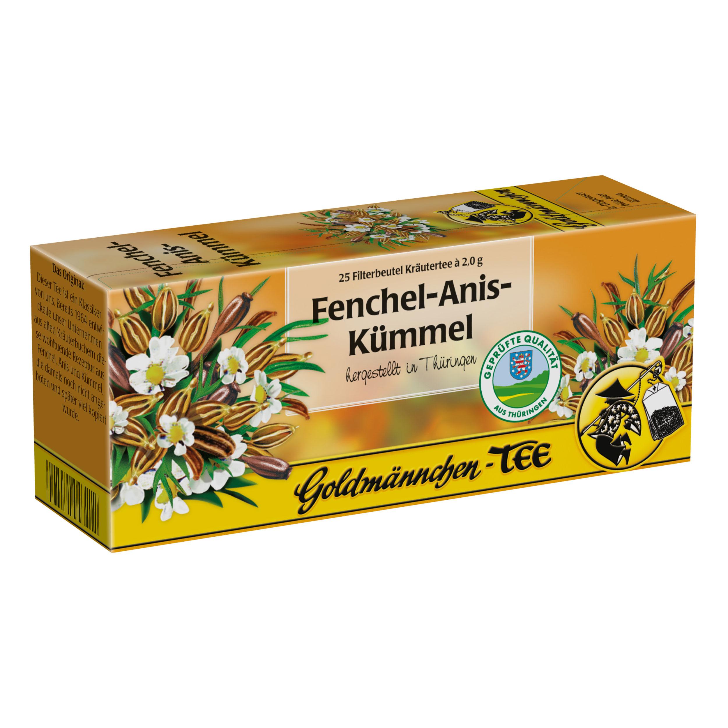 Goldmännchen Tea Fennel-Anise-Caraway, 25 Tea Bags at About-Tea de Shop