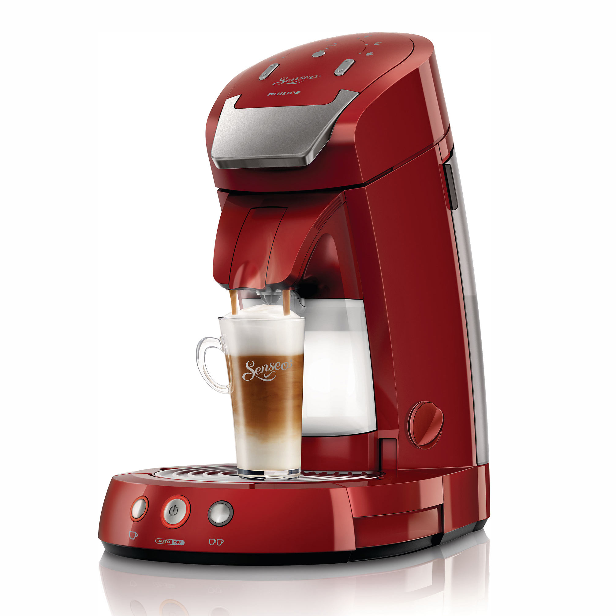 Philips Senseo Latte Select Hd785480 Coffee Pod System Deep Red At About Teade Shop