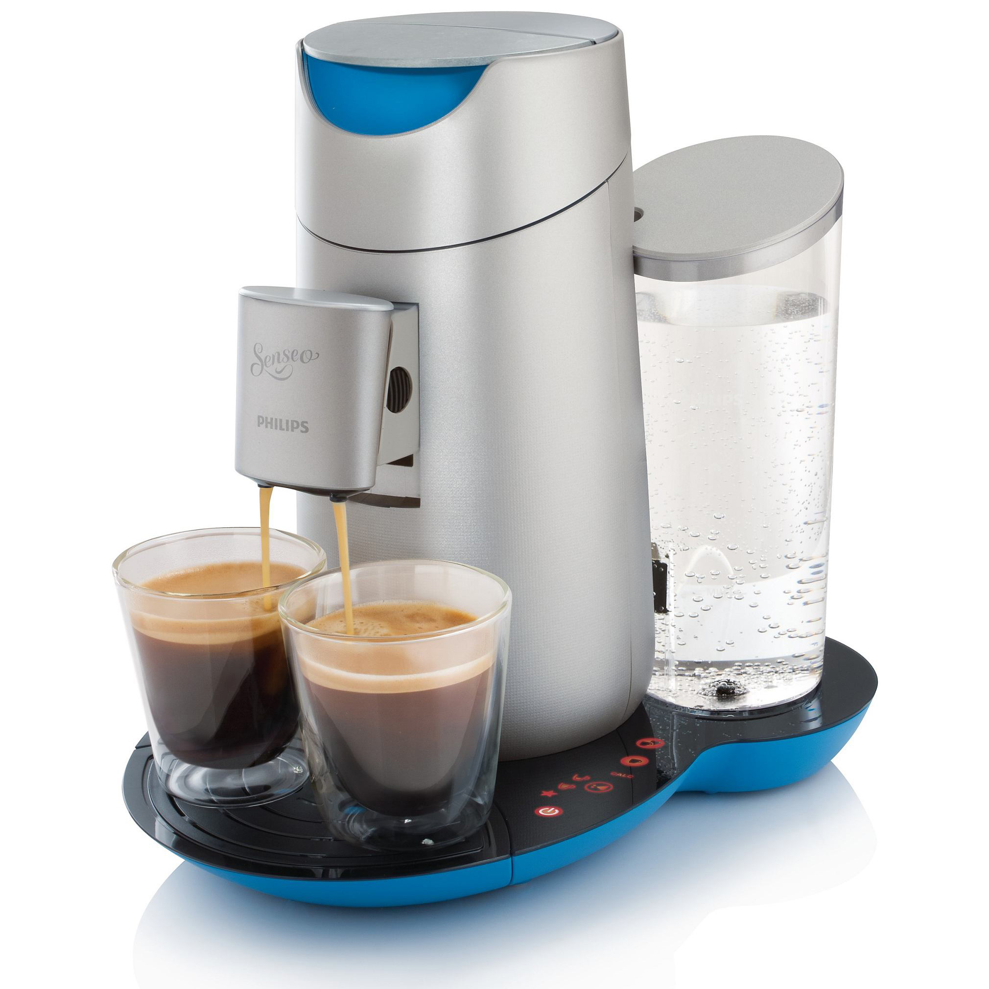 philips senseo twist coffee pod machine hd7872 10 caribbean blue silver at about shop. Black Bedroom Furniture Sets. Home Design Ideas