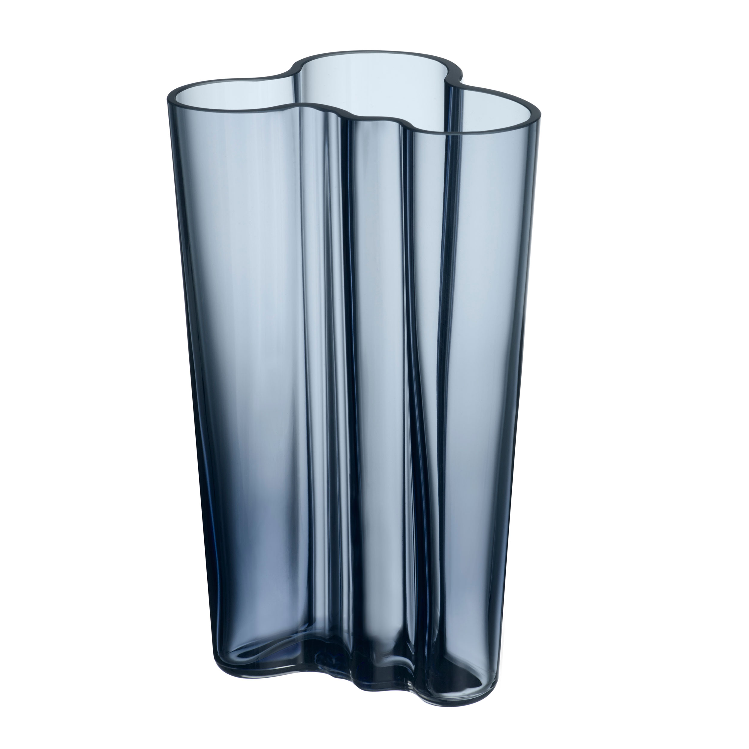 Iittala Alvar Aalto Collection Finlandia Vase Flower Vase Indoor Vase Table Vase Vase Glass Rain 20 1 Cm 1007826 At About Tea De Shop