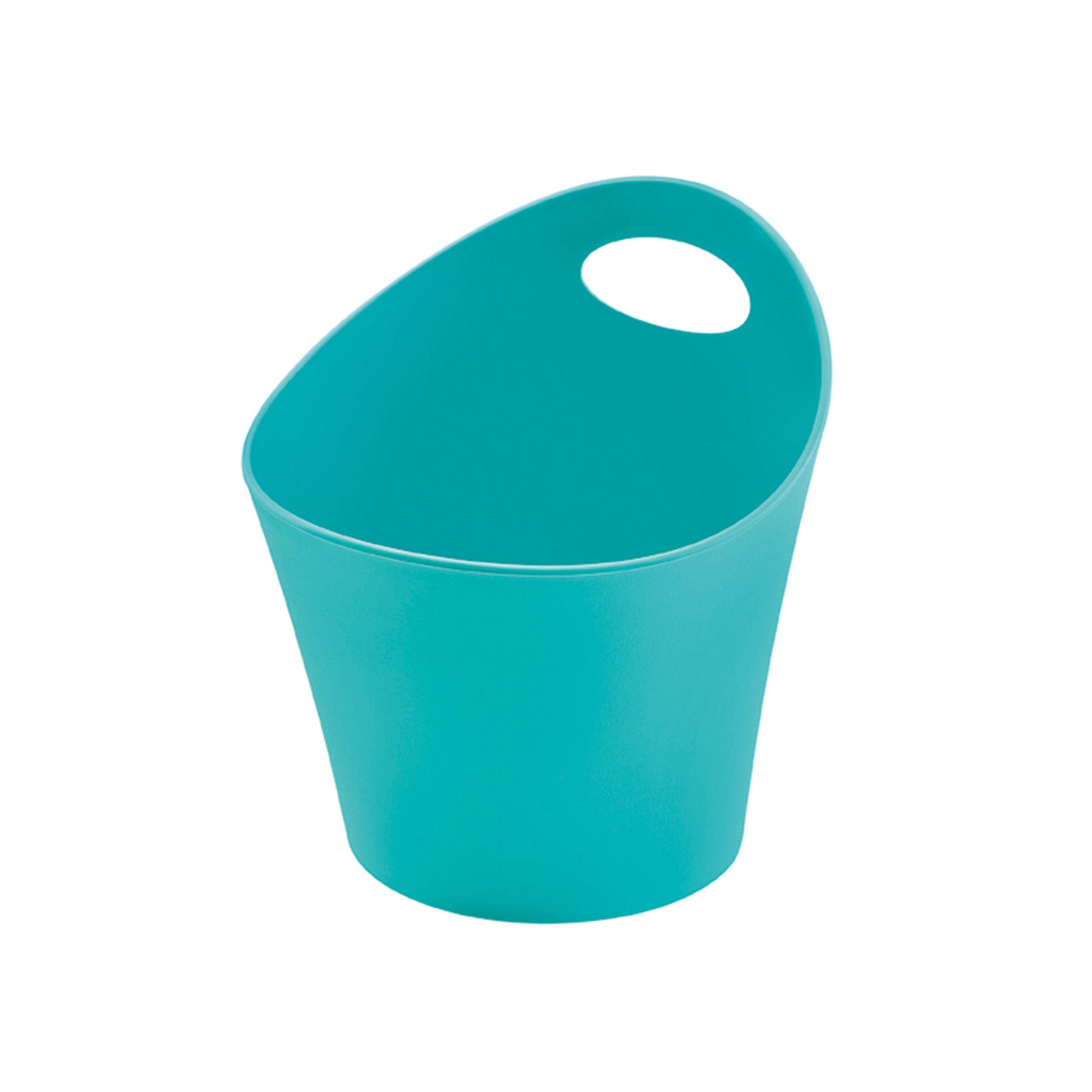 Koziol pottichelli m utensilo basket storage box bin for Turquoise bathroom bin