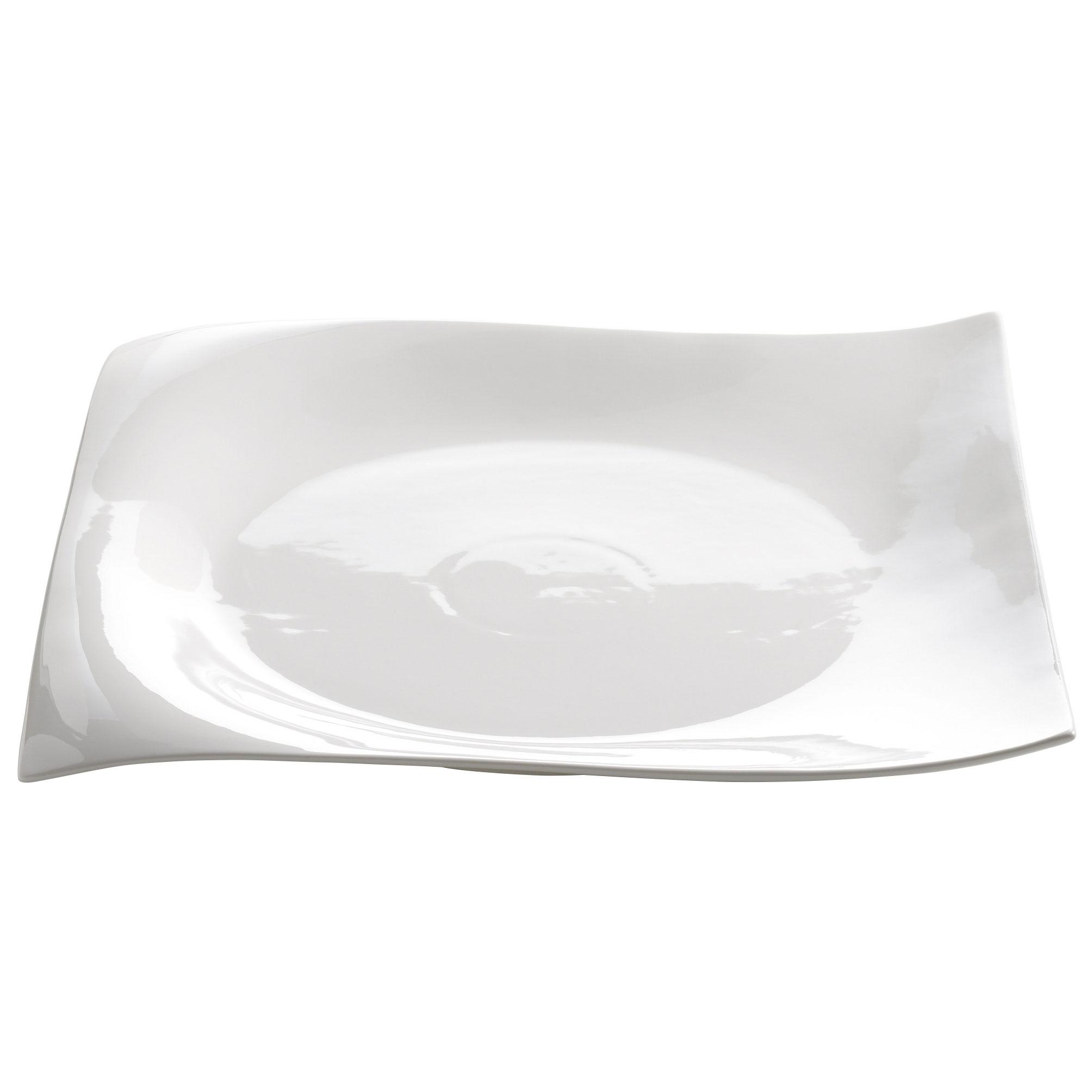 Maxwell /& Williams Motion Platte Eckig Servierplatte Weiß Tablett Porzellan