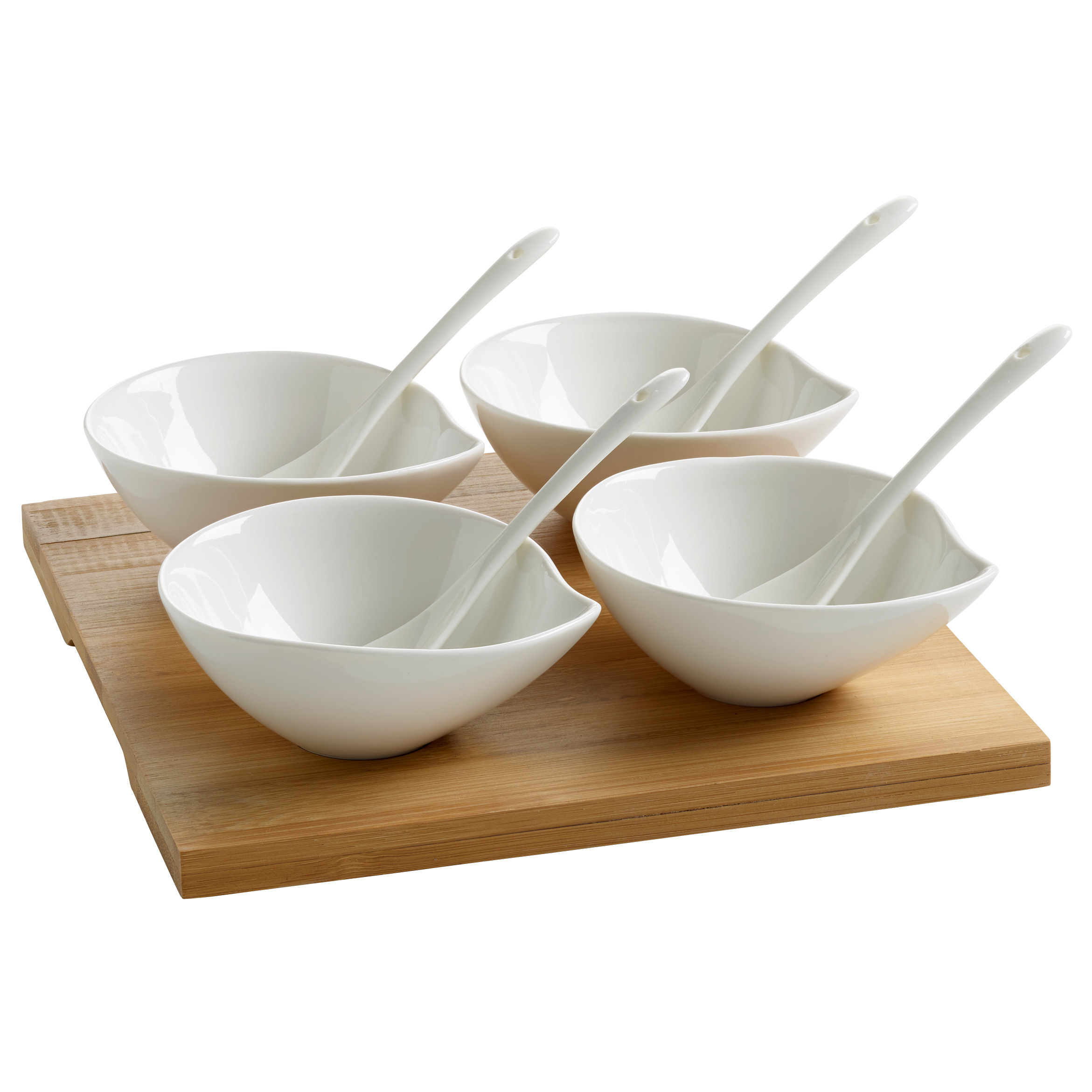maxwell & williams white basic gifts bamboo tasting set, 9 pcs