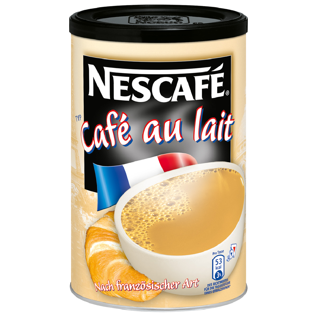 nescaf caf au lait milchkaffee instant kaffee dose 250g 11800196 at about shop. Black Bedroom Furniture Sets. Home Design Ideas