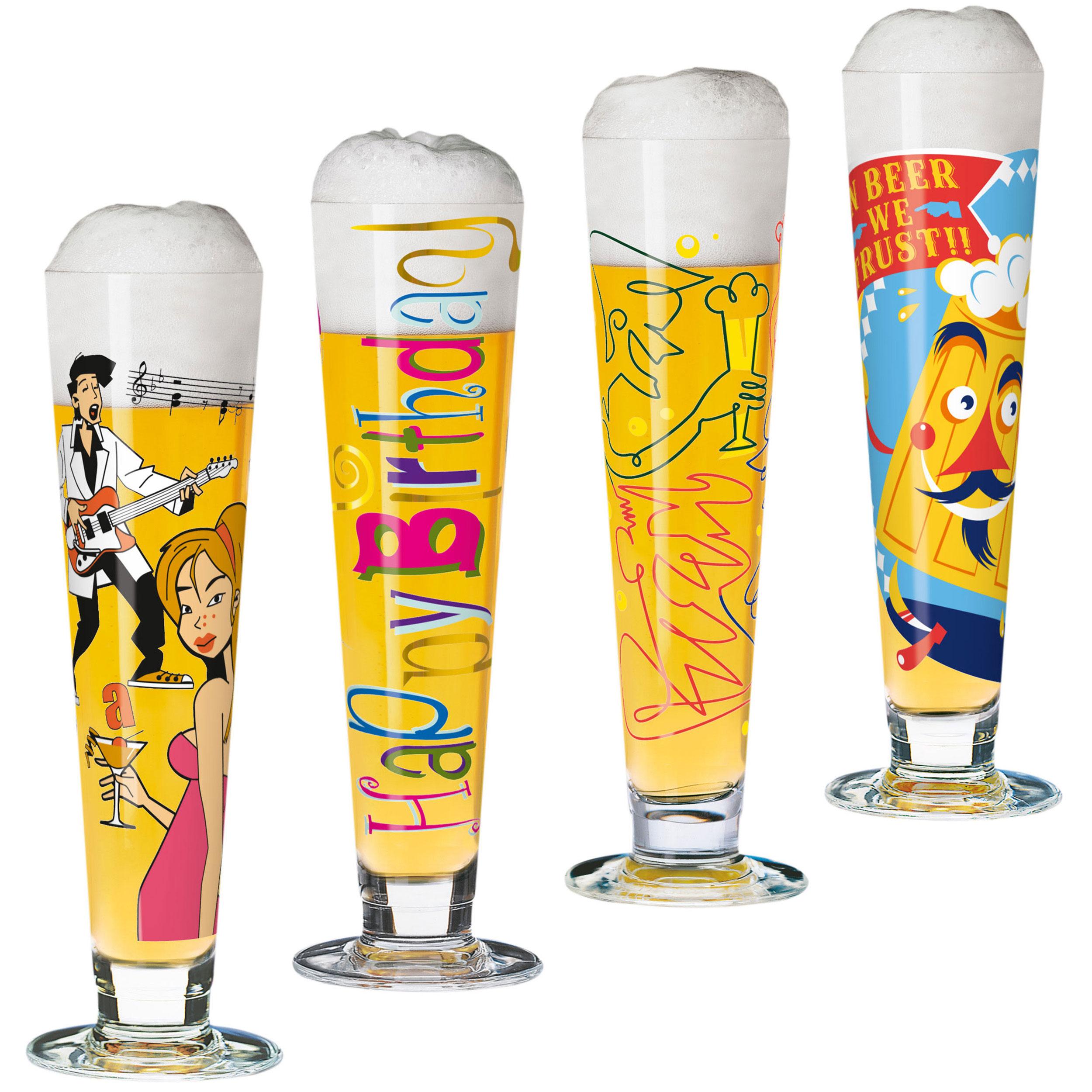 Ritzenhoff Party Set For Men Beer Glasses Set Of 4