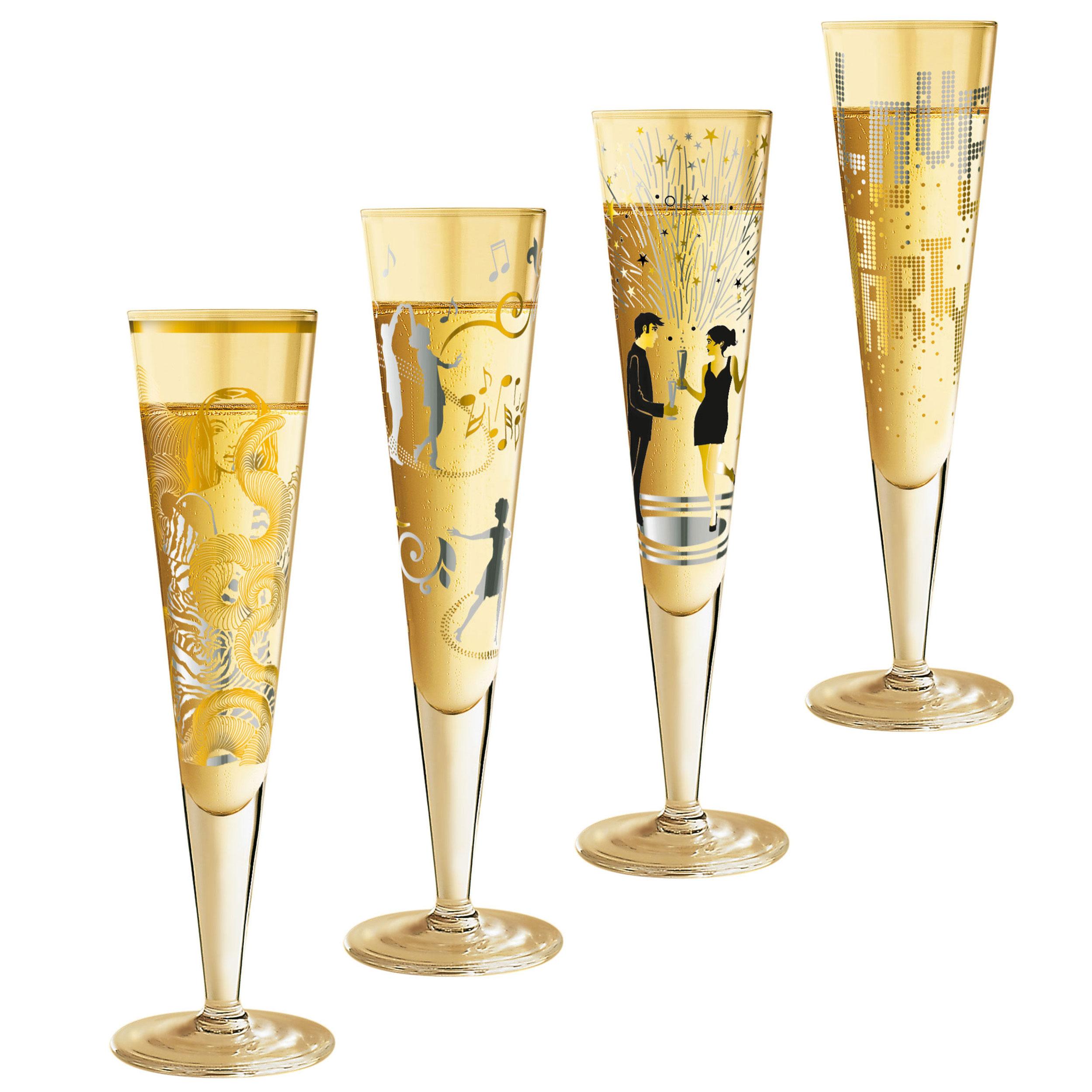 Ritzenhoff Party Set For Women Champagne Glasses Set Of