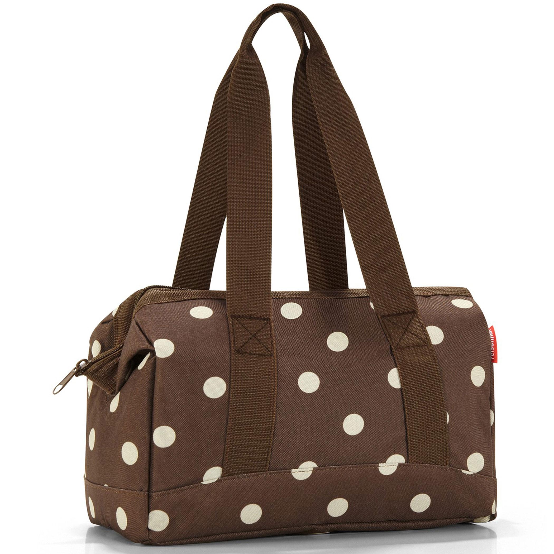 reisenthel allrounder s travel bag handbag mocha dots. Black Bedroom Furniture Sets. Home Design Ideas