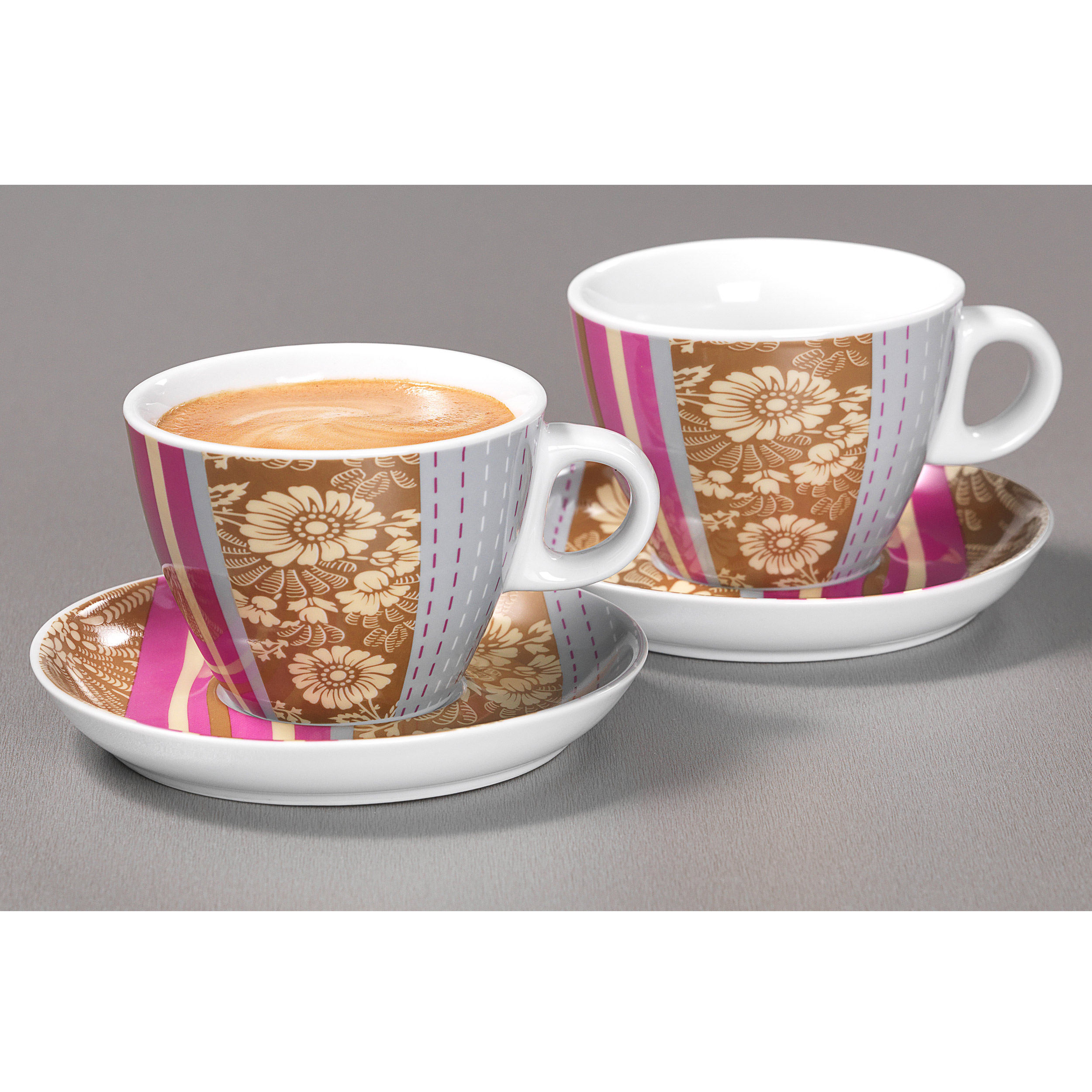 ritzenhoff breker florella cappuccino set of 2pc high quality porcelain dishwasher safe. Black Bedroom Furniture Sets. Home Design Ideas