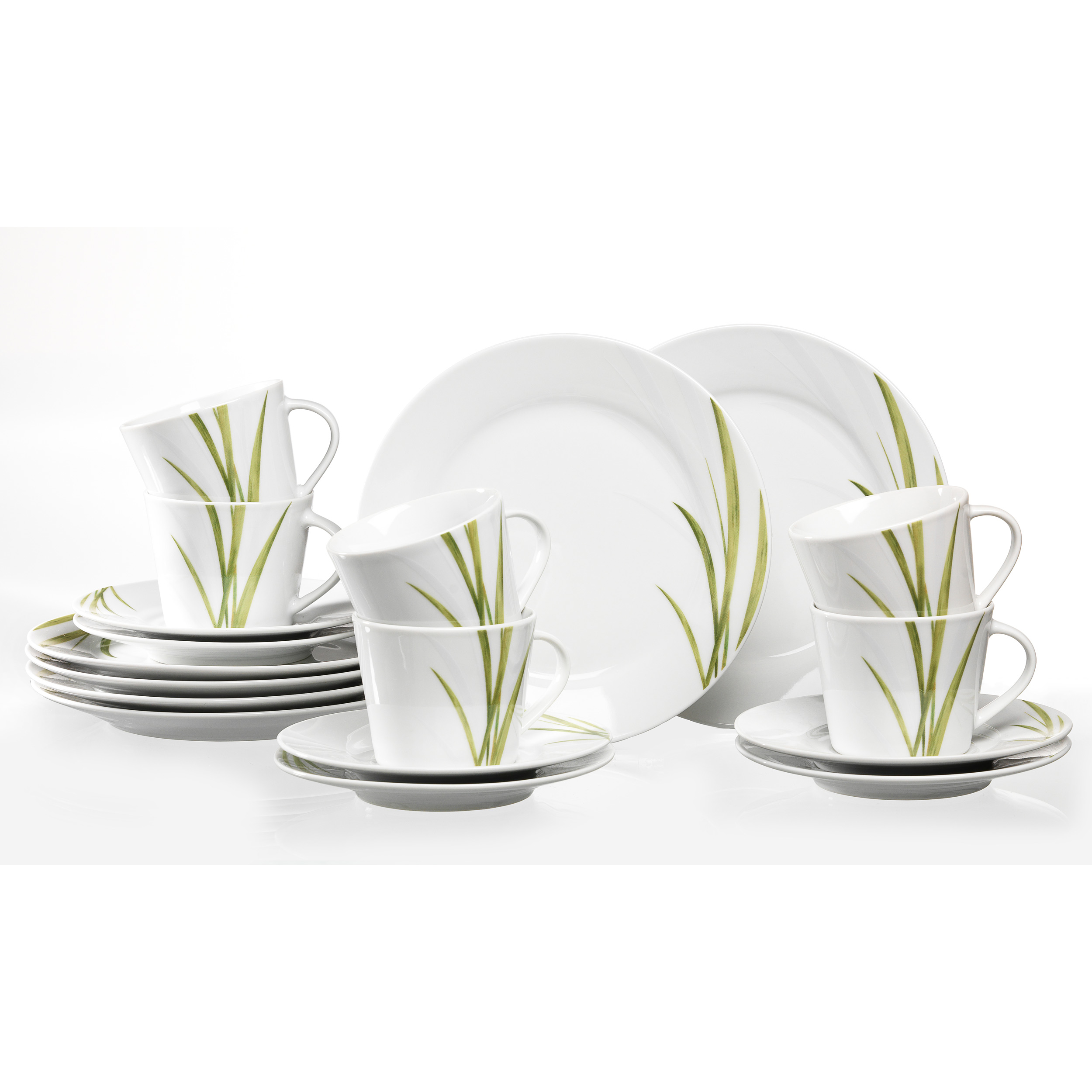 ritzenhoff breker aveda coffee set white green grass porcelain 18 pcs at about shop. Black Bedroom Furniture Sets. Home Design Ideas