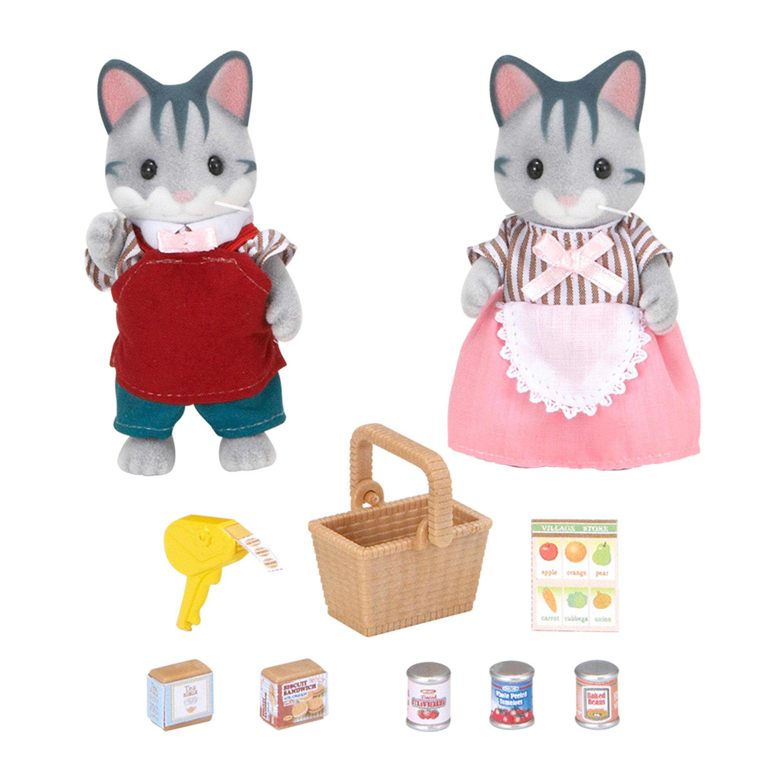 Sylvanian Families Supermarkt-Besitzer Papa Bernd Mama Margarete Supermarkt 5052