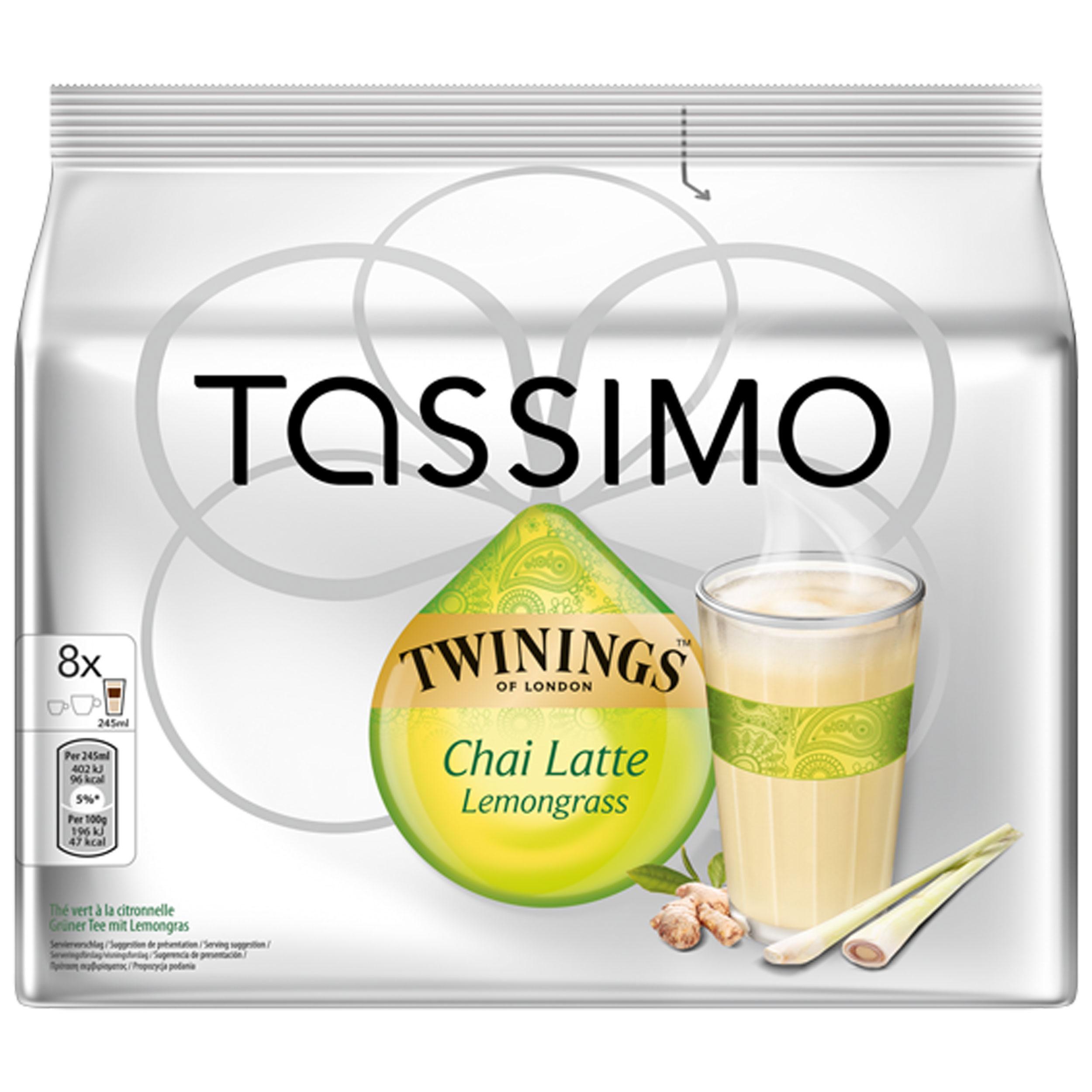 Tassimo Twinings Chai Latte Lemongrass, 16 T-Discs (8 Servings) at  About-Tea de Shop