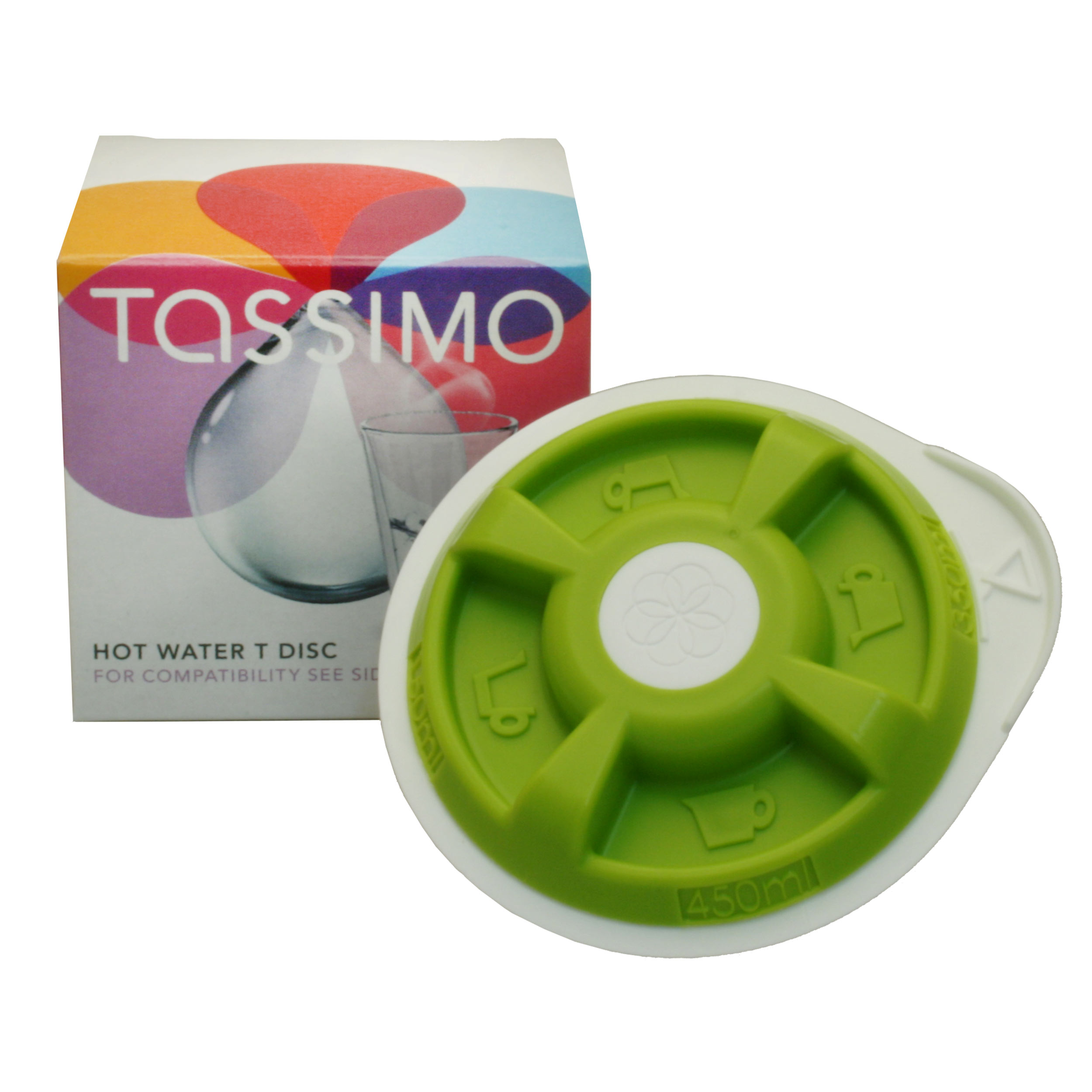 tassimo hot water t disc hot water preparer green for 150 450 ml bosch t20 t40 t42 t65 t85. Black Bedroom Furniture Sets. Home Design Ideas