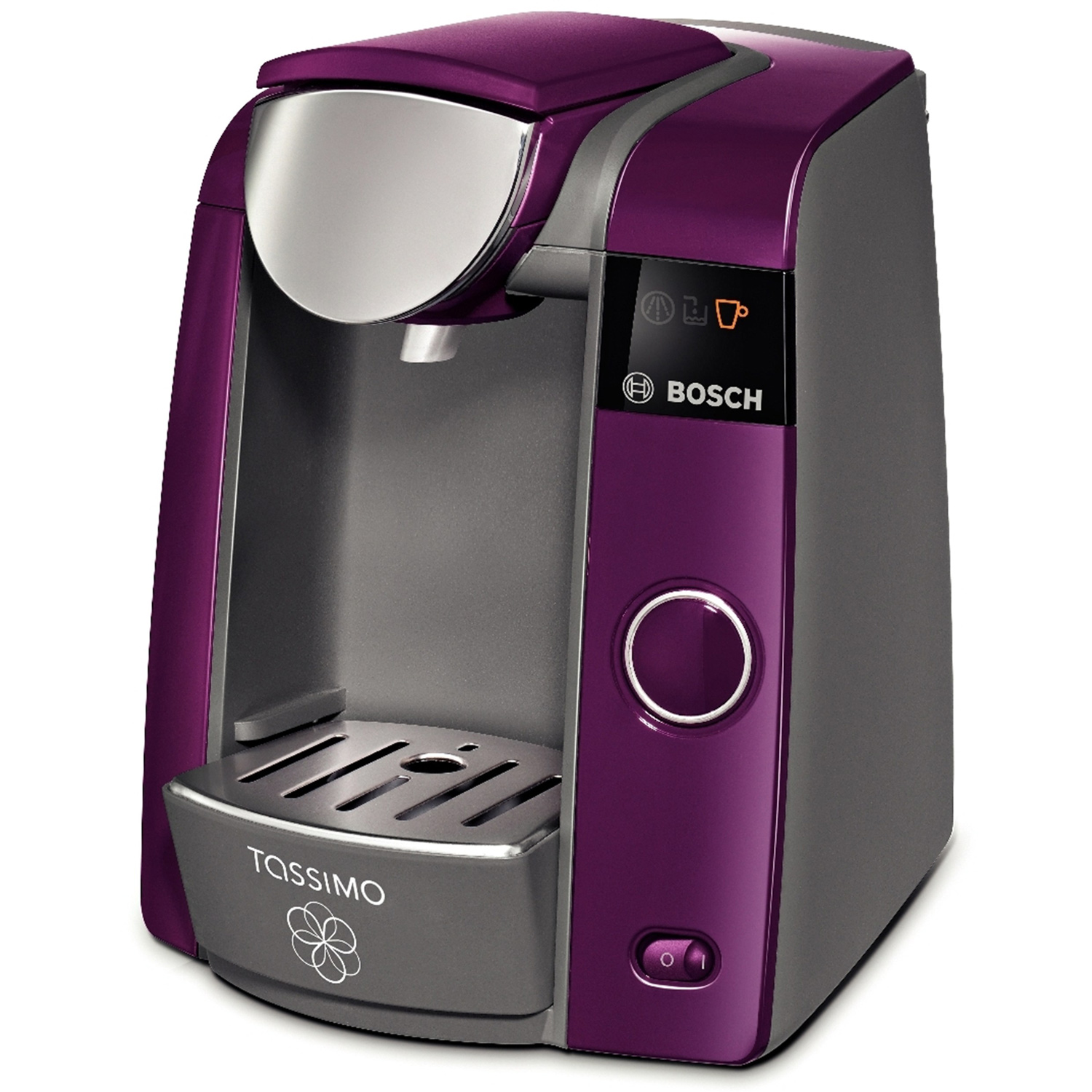 Bosch tassimo t43 joy hot drinks coffee machine passion purple tas4301 at about shop - Support capsule tassimo bosch ...