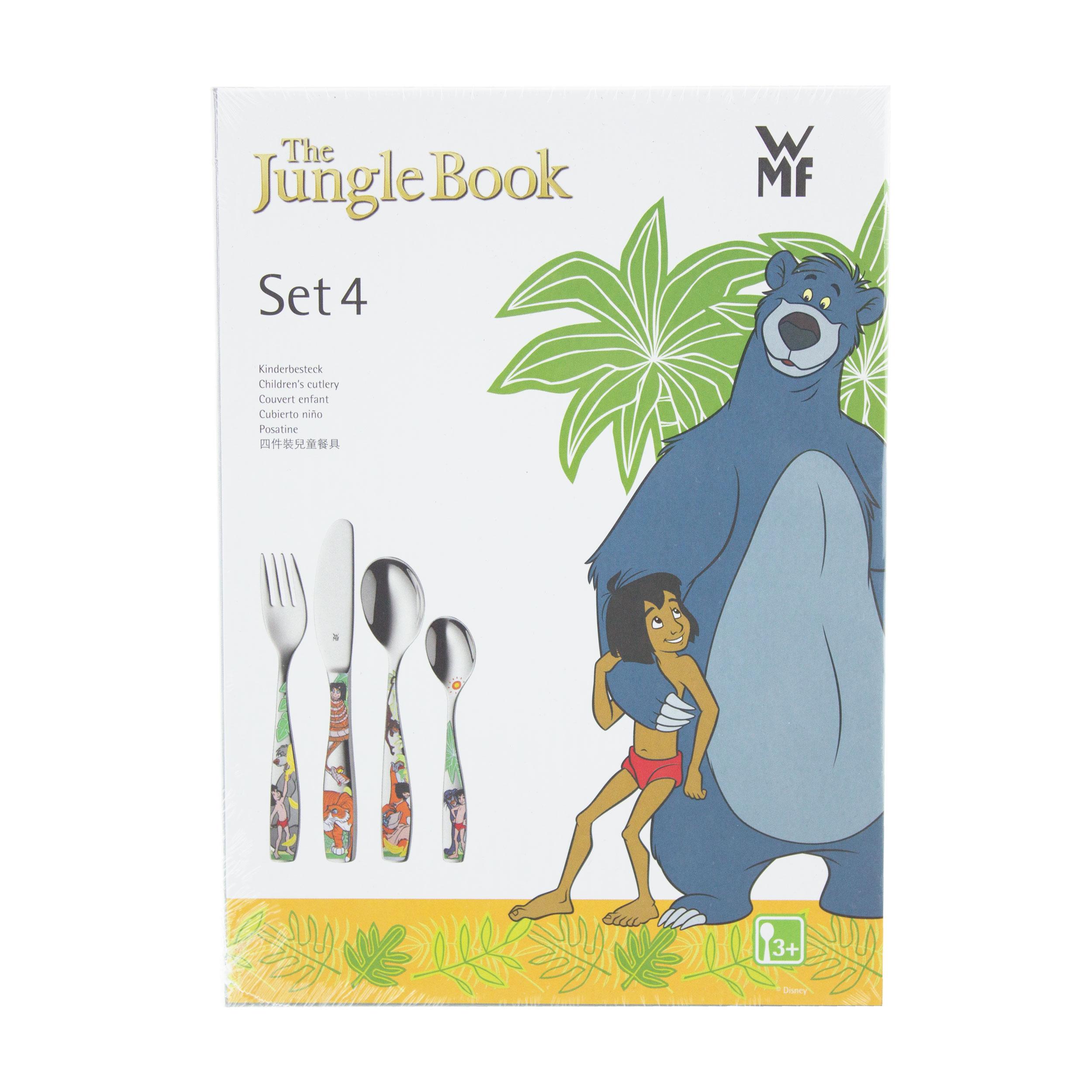 Essbesteck Tafel Besteck Geschirr Edelstahl WMF Kinderbesteck Jungle Book 4-tlg